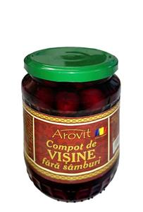 Pitted sour cherry compote 570g